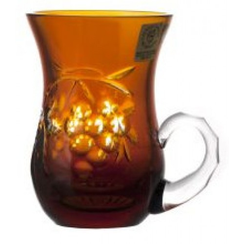 Hrneček Grapes, barva amber, objem 100 ml