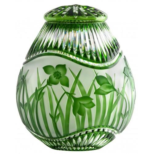 Urna Květy, barva zelená, velikost 230 mm