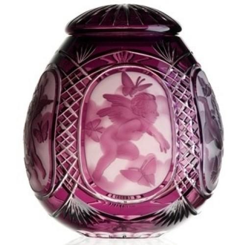 Urna  Anděl, barva fialová, velikost 290 mm