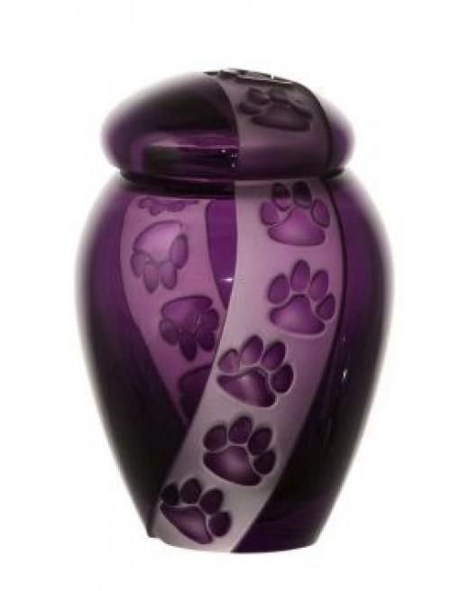 Urna  Tlapky, barva fialová, velikost 120 mm