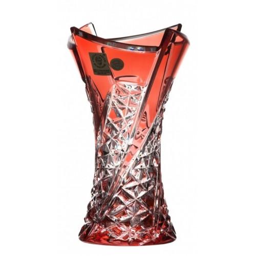 Váza Fan, barva rubín, výška 155 mm