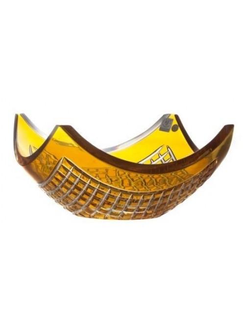 Mísa  Quadrus, barva amber, průměr 280 mm
