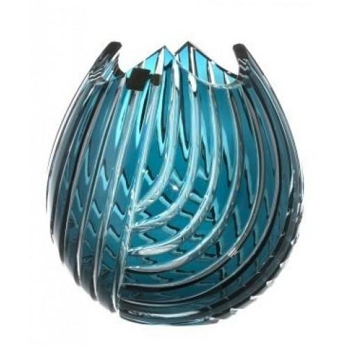 Váza  Linum, barva azurová, výška 210 mm