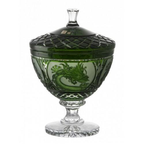 Dóza Drak, barva zelená, výška 260 mm
