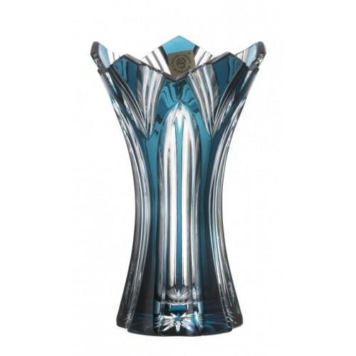 Váza Lotos II, barva azurová, výška 155 mm