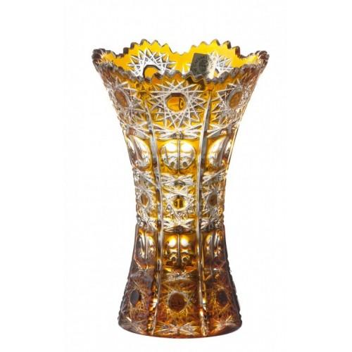 Váza Petra, barva amber, výška 155 mm