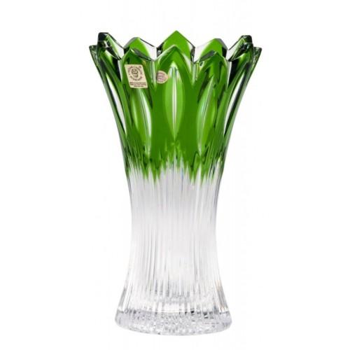 Váza Flame II, barva zelená, výška 205 mm