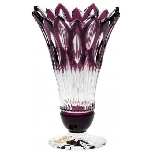 Váza Flame, barva fialová, výška 150 mm