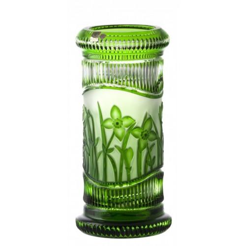 Váza Květy, barva zelená, výška 300 mm