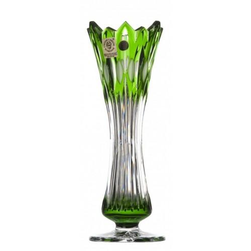 Váza Flame I, barva zelená, výška 205 mm
