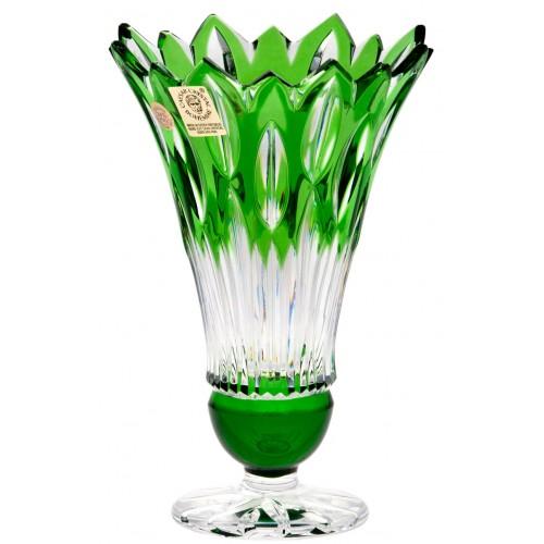Váza Flame, barva zelená, výška 150 mm