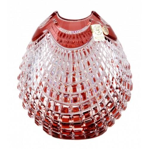 Váza Quadrus, barva rubín, výška 135 mm