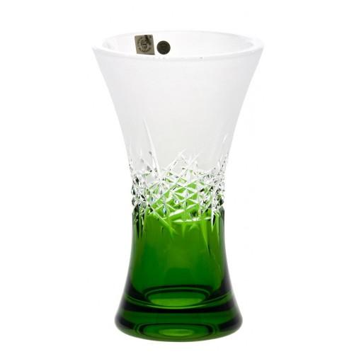 Váza Hoarfrost, barva zelená, výška 205 mm