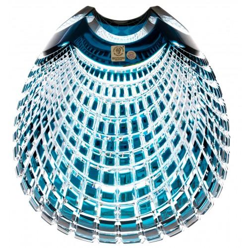 Váza Quadrus, barva azurová, výška 250 mm