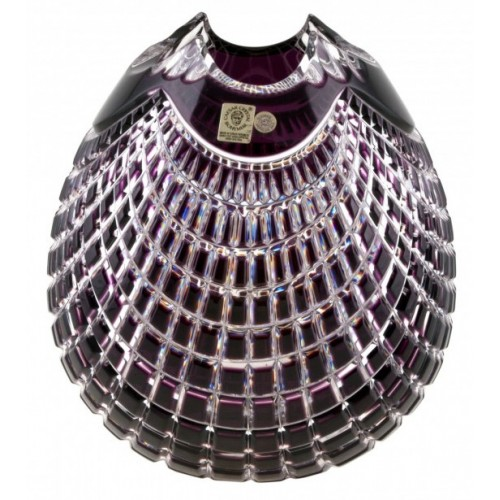 Váza Quadrus, barva fialová, výška 135 mm