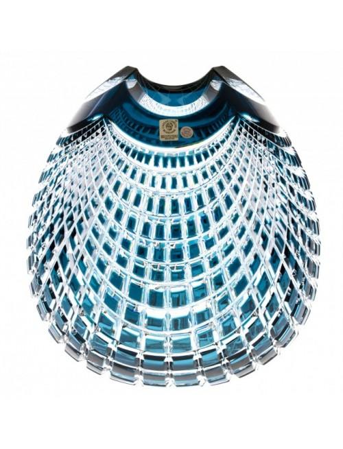 Váza Quadrus, barva azurová, výška 135 mm