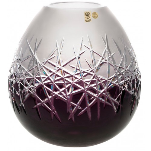 Váza Hoarfrost, barva fialová, výška 280 mm