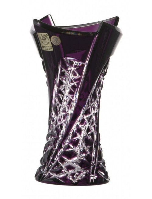 Váza Fan, barva fialová, výška 155 mm