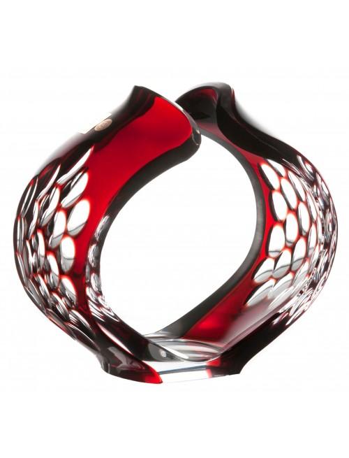 Svícen Sírius, barva rubín, výška 165 mm