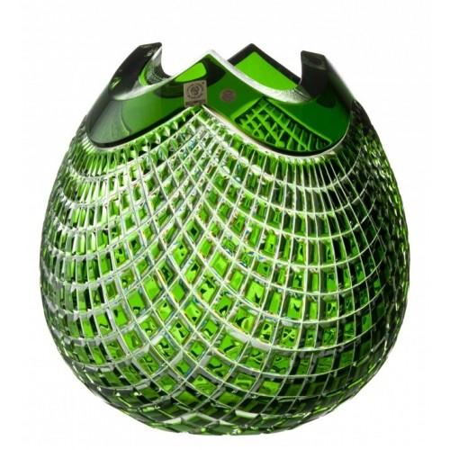Váza Quadrus, barva zelená, výška 250 mm