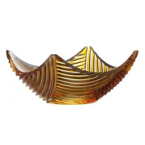 Mísa Linum, barva amber, průměr 280 mm