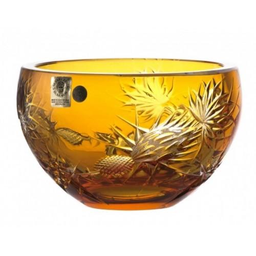 Miska Thistle, barva amber, průměr 140 mm