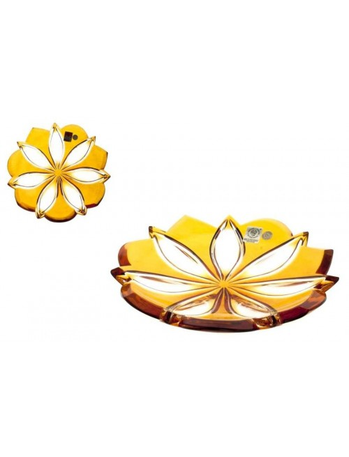 Talíř Linda, barva amber, průměr 180 mm