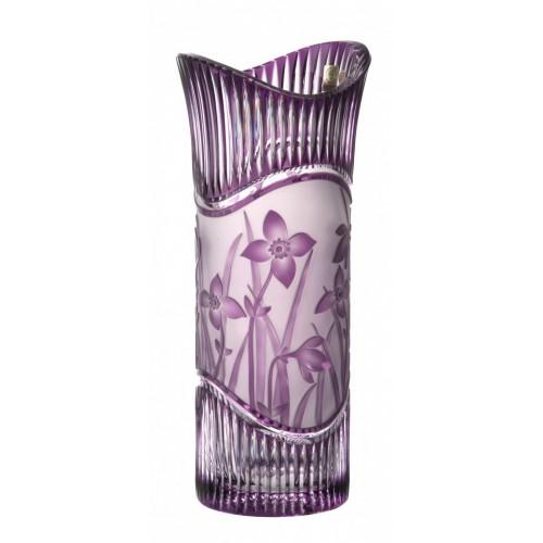 Váza Květy, barva fialová, výška 310 mm