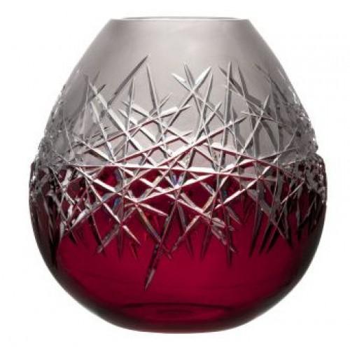 Váza Hoarfrost, barva rubín, výška 280 mm