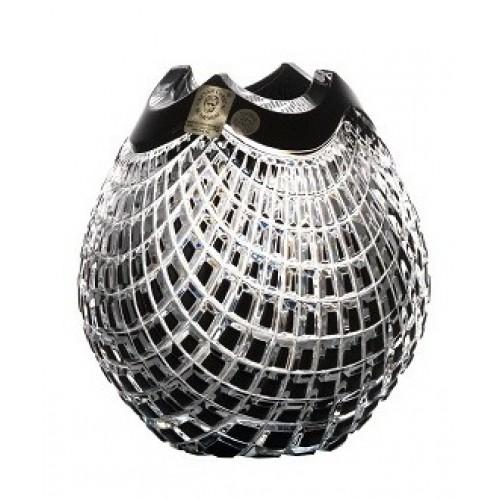 Váza Quadrus, barva černá, výška 135 mm