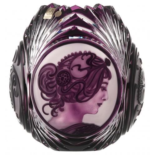 Váza Mucha, barva fialová, výška 210 mm