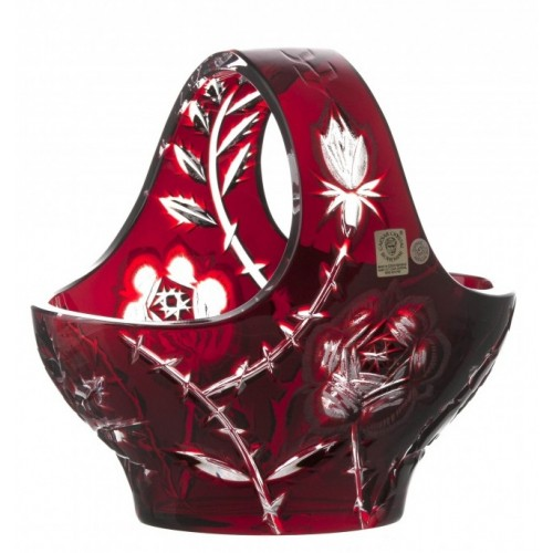 Koš Rose tmavá, barva rubín, průměr 199 mm