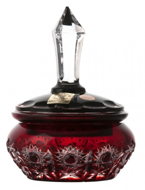 Dóza Petra, barva rubín, výška 110 mm