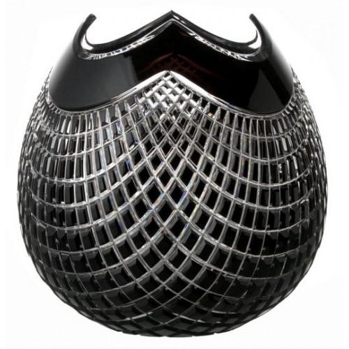 Váza Quadrus, barva černá, výška 250 mm