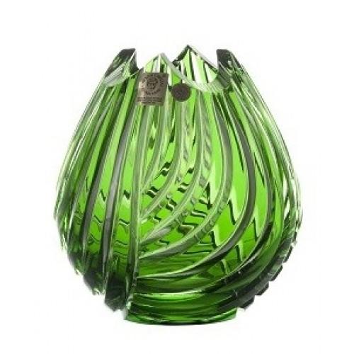 Váza Linum, barva zelená, výška 135 mm