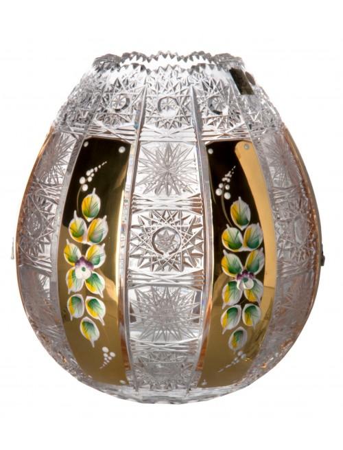 Váza 500k zlato, barva čirý křišťál, výška 210 mm