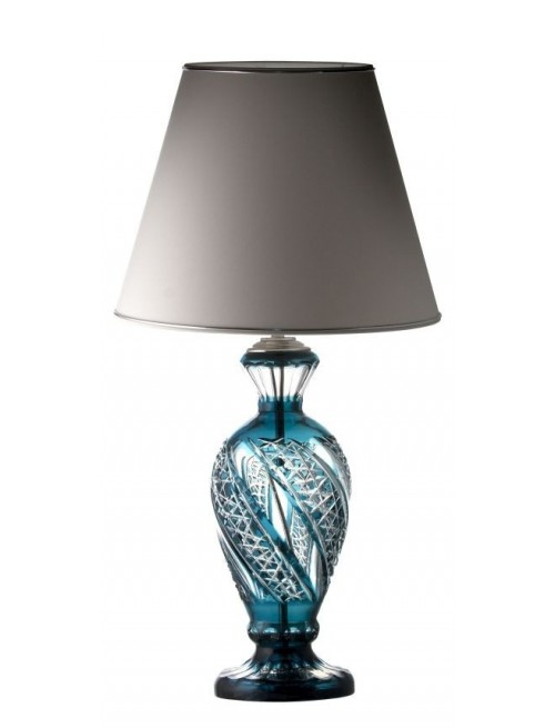 Lamp.noha Galaxy, barva azurová, výška 390 mm