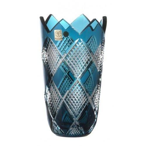 Váza Colombine II, barva azurová, výška 205 mm