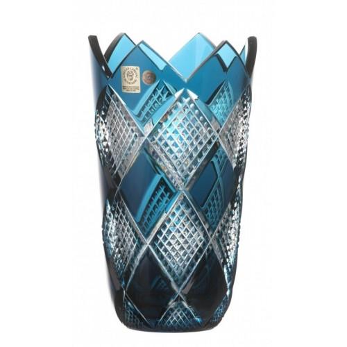 Váza Colombine, barva azurová, výška 255 mm