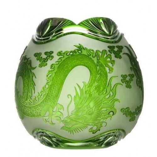 Váza Drak, barva zelená, výška 280 mm