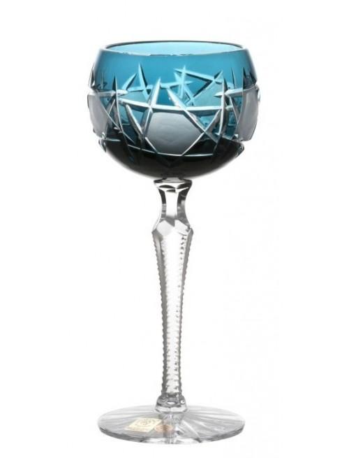 Sklenice na víno Mars, barva azurová, objem 190 ml