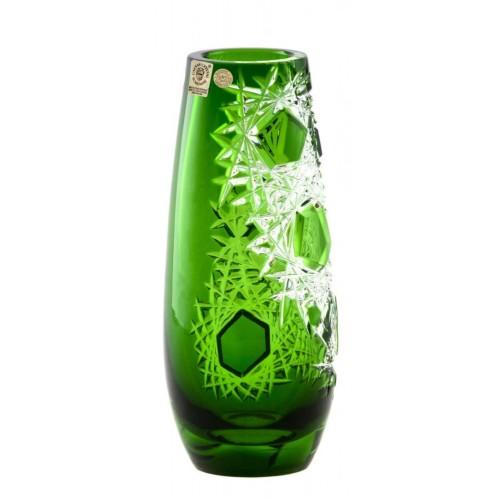 Váza Frost, barva zelená, výška 205 mm