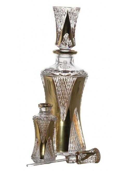 Flakon Pruhy zlato+mazátko, barva čirý křišťál, objem 750 ml