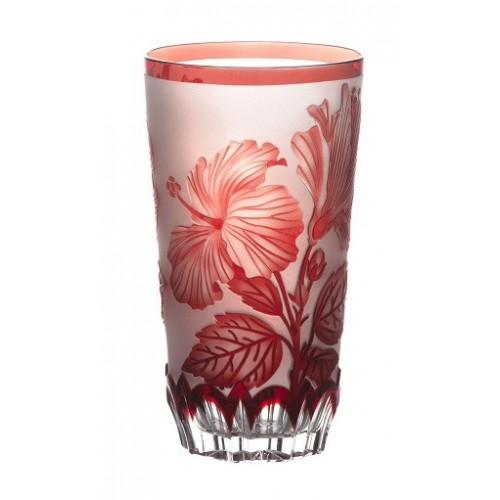 Sklenička Ibich, barva rubín, velikost 320 mm