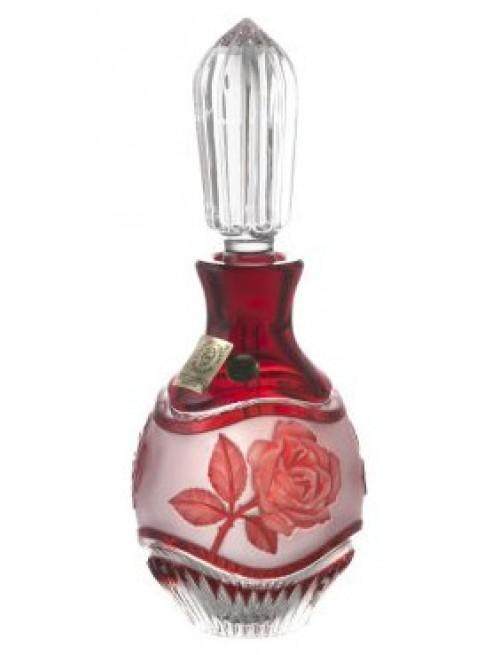 Flakon Růže, barva rubín, objem 130 ml