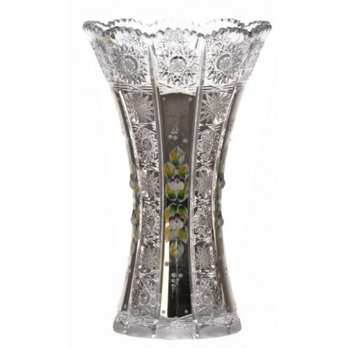 Váza 500K platina, barva čirý křišťál, výška 255 mm