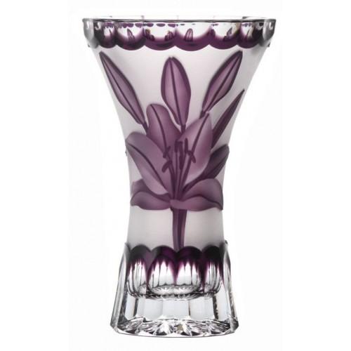 Váza Lilie, barva fialová, výška 155 mm