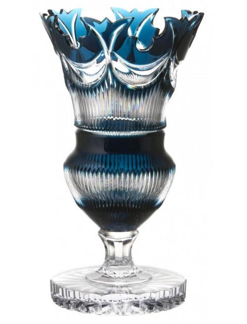 Váza Diadem, barva azurová, výška 410 mm