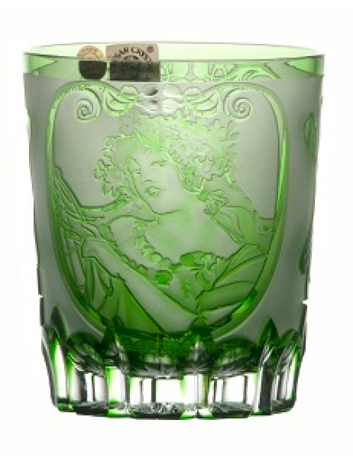 Sklenička Mucha, barva zelená, objem 290 ml