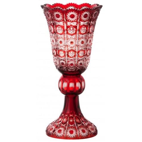 Váza Petra, barva rubín, výška 430 mm